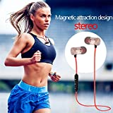 Wiressless Earphone for Samsung Note 8,Businda Metal Magnetic Sports Headset XT-6 Stereo Earphone for Men and Women,Gold