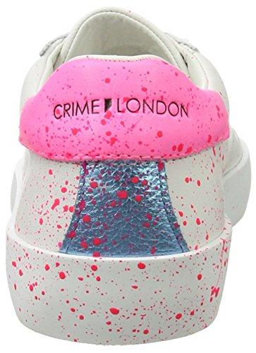 CRIME London Damen Dynamite Sneaker Weiß (Weiß)