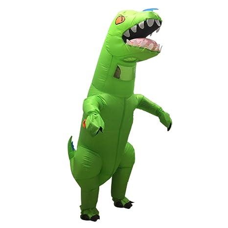 Asitlf Disfraz de Dinosaurio Inflable, Disfraz de fantasía ...