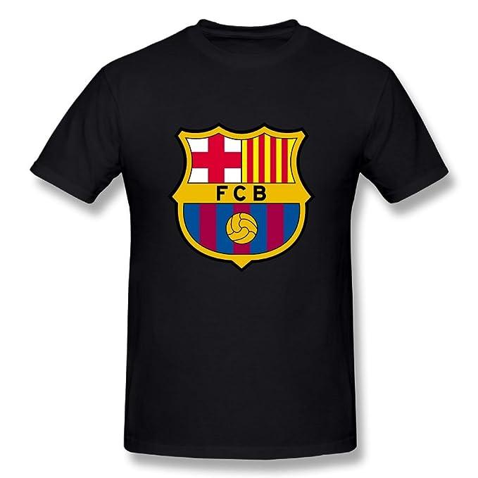 52815c961 Amazon.com  GNJY Fc Barcelona Football Club Men s Short Sleeve T-Shirt   Clothing