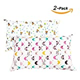 NinkyNonk Envelope Style Toddler Pillowcase Baby Cotton Pillowcase Travel Pillowcase for Pillow Sized 13x18 Or 12x16, 2 Pack