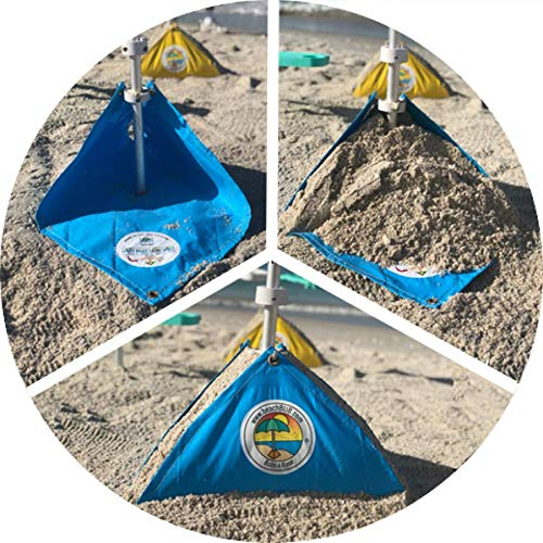 Patio Umbrella Flying Away: BEACHBUB All-in-One Beach Umbrella System. Includes 7 ½