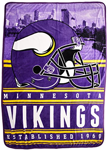 The Northwest Company Officially Licensed NFL Minnesota Vikings Stacked Silk Touch Throw Blanket, 60