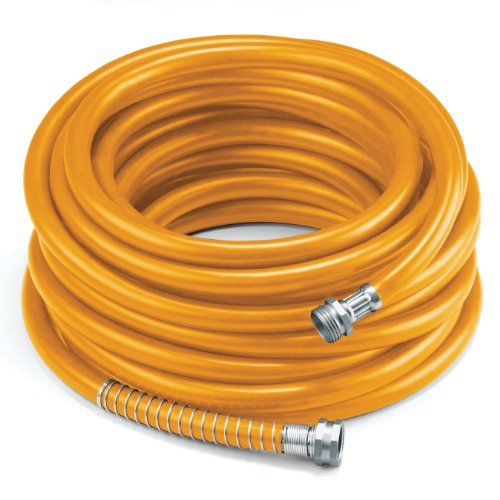 (COLOURWAVE Premium Rubber Hose, 5/8-Inch by 100-Feet, Orange)