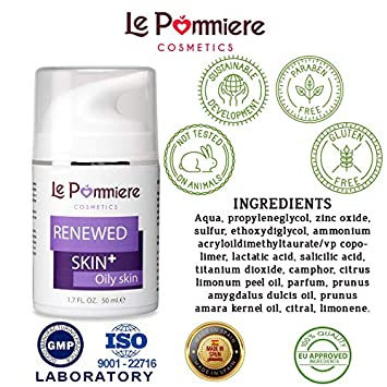 Acne free skin cream 1.7 fl oz. Reduces imperfections on face or body. It helps remove blackhead on forehead, pimple facial, neck and back. Teen, youth, adult, hormonal or cystic. Men women