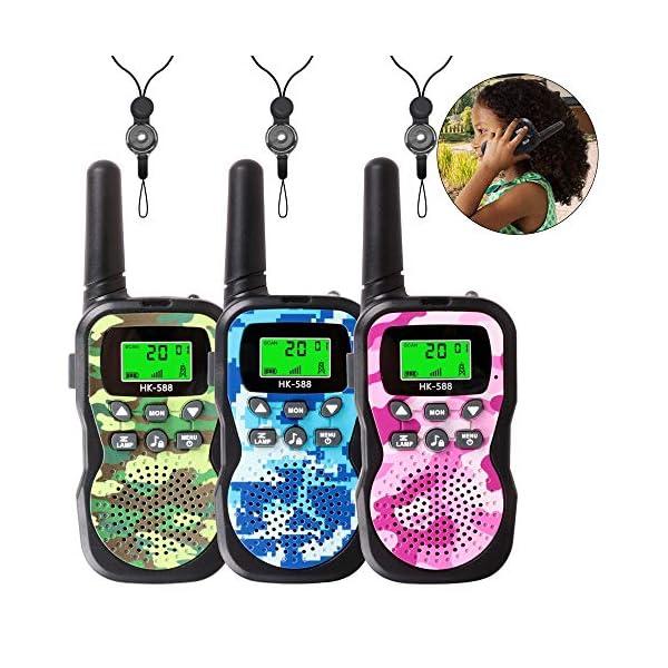 Kids Walkie Talkies, Radio Toy & Handheld 3 Miles Long Range Uhf FRS 2 Way 22 Channel, Radio Kids Toys Outdoor Adventure Camping Game