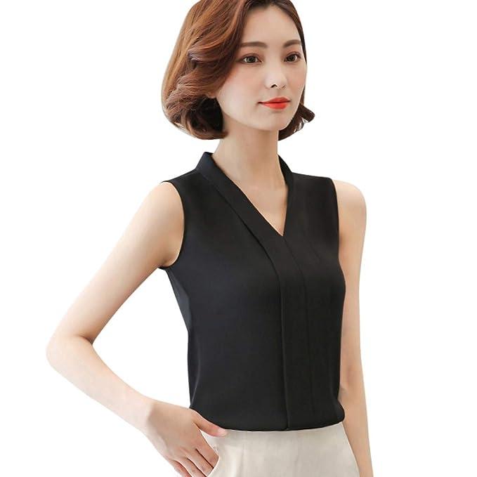 best cheap sale online official site ballsFHK Fashion Women Elegant Comfy Solid V-Neck Sleeveless ...