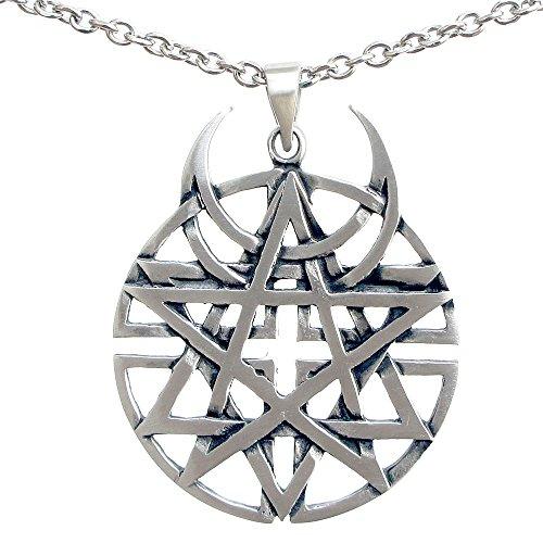 Unbiased Faith all religions Coexist Star Unbiased disturbed Pewter Pendant Stainless Steel Chain