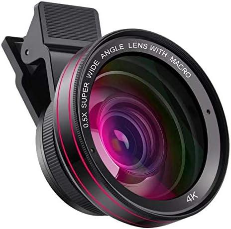 Lente de cámara para teléfono celular 4K 0.5X lente gran angular ...