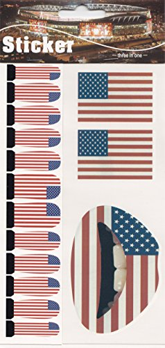 Tattoos Temporary Nail (Party Eyeshadow Lip Nail Sticker Temporary Tattoo Kit Set Christmas Temporary Tattoo Kit (USA Flag))