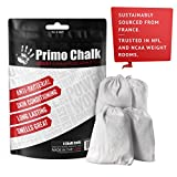 Primo Chalk Stop ruining Your Hands 4 3oz Cotton Pouch with Loose Chalk. Switch to Primo Gym Chalk and Experience The Difference for Yourself. This is The Way Climbing and Lifting Chalk Should be.