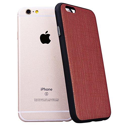 Yokata Cover per iPhone 6S Plus / 6 Plus Custodia Gel Silicone Molle di Flessibile TPU Morbido Case Protezione Caso Gomma Bumper Protettiva Shell Lato Nero Backcover Marrone