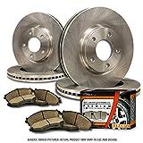(F+R Full Kit)4 OEM Replacement Extra-Life Heavy Duty Brake Rotors + 8 Ceramic Pads(Edge MKX)(5lug)-Combo Brake Kit-[SHIPS FROM USA!!-Tax Incl.]
