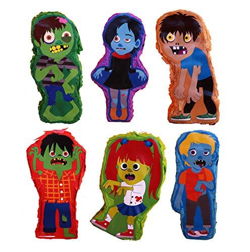 Mini Zombie Pinata Asst. (6 pcs.) (Make A Halloween Ghost Pinata)