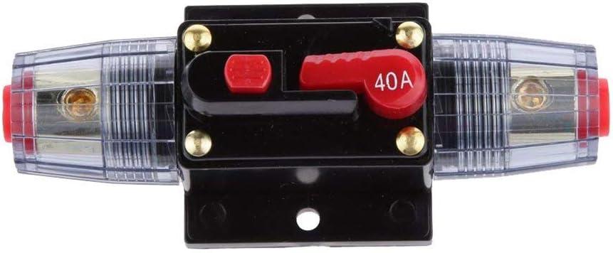 Newin Star Accesorio 12V-24V en línea automática del interruptor automático 40A restablecimiento manual de inactividad Car Audio Portafusible