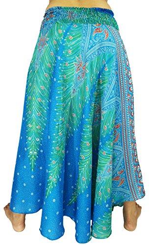 Arika - Falda - trapecio - para mujer Peacock Blue Ocean