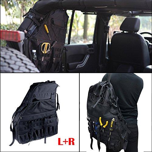 - Door/Window Storage Bags cargo bag saddlebag Tool Kits For 4-door Jeep Wrangler JK 2007-2016 (1pair)