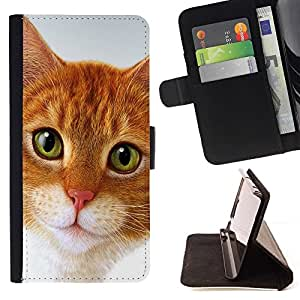 Momo Phone Case / Flip Funda de Cuero Case Cover - Cymric Gato American Shorthair; - HTC One A9