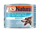 K9 Natural Canned Dog Food Supplement Booster Perfect Grain Free, Healthy, Hypoallergenic Limited Ingredients Dog's - Wet Dog Supplement - 100% Beef Green Tripe - 6 oz (24 Pack)
