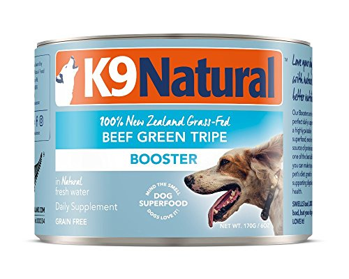 K9 Natural Canned Dog Food Supplement Booster Perfect Grain Free, Healthy, Hypoallergenic Limited Ingredients Dog's - Wet Dog Supplement - 100% Beef Green Tripe - 6 oz (24 Pack) by K9 Natural
