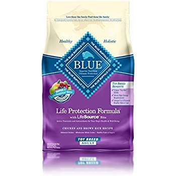 BLUE Life Protection Formula Adult Toy Breed Chicken and Brown Rice  Dry Dog Food 4-lb