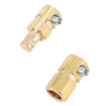 Cable de soldadura de cobre de estilo europeo Conector r/ápido 200-400A Conector de cable de soldadura Conector de cable Zerone 3 pares 10-25 6psc