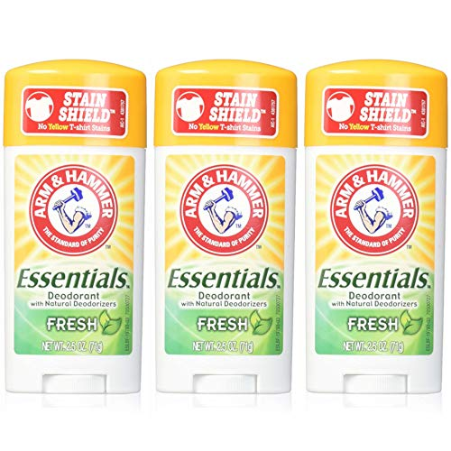 ARM & HAMMER Essentials Natural Deodorant Fresh 2.50 oz (Pack of 3)