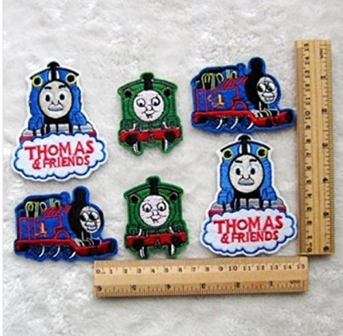 6pcs Thomas Train Fabric Embroidery Iron Sew On Patch Motif Applique by Rnuchat