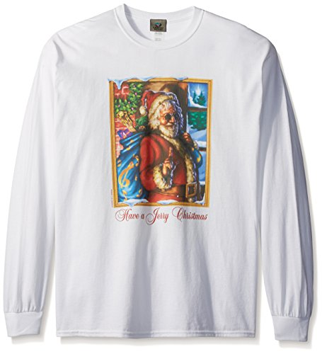 Liquid Blue Men's Grateful Dead Have A Jerry Christmas Long Sleeve T-Shirt, White, Large