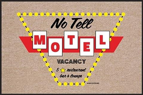 High Cotton Outdoor Mat, No Tell Motel (Humor Doormat)