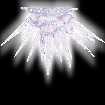 Weihnachtsbeleuchtung Eiszapfen Lauflicht.100er Led Eiszapfen Lichterkette Kaltweiß Mit 8 Funktionen Für Außen