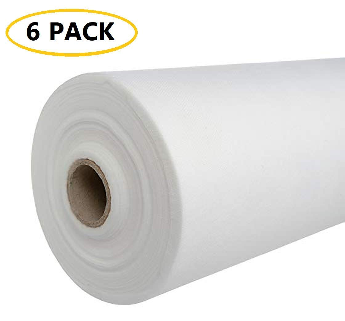 [50% THICKER] Perforated Disposable Bedsheet/Massage Table Paper Roll, Pack of 6 (31.5 inches x 328 feet) - Non woven Fabric, Disposable Sheets Cover for Exam Table, Spa Bed, Wax, Tattoo, Lash Chair by JJ CARE