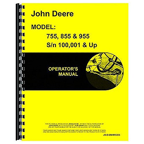 Photo New John Deere 955 Tractor Operator`s Manual
