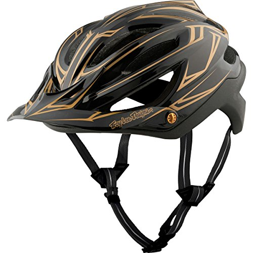 Troy Lee Designs A2 MIPS Helmet Pinstripe Black/Gold, M/L by Troy Lee Designs