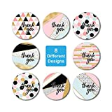 "1.5"" Geometric Modern Thank You Stickers / 8"