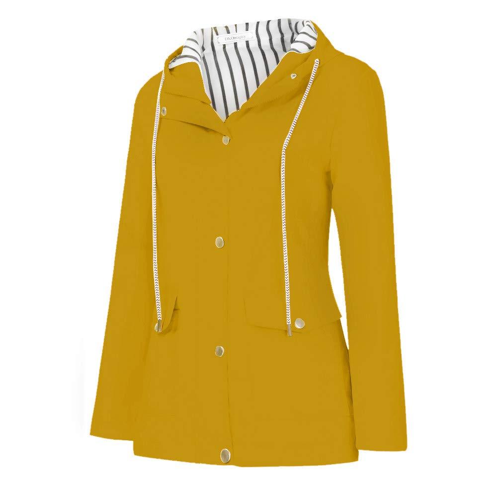 Clearance Windproof COPPEN Women Christmas Rain Jacket Outdoor Plus Waterproof Hooded Raincoat