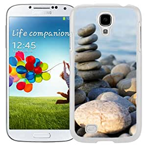 Fashionable And Unique Designed Cover Case For Samsung Galaxy S4 I9500 i337 M919 i545 r970 l720 With Beach Rocks Zen Macro_White Phone Case