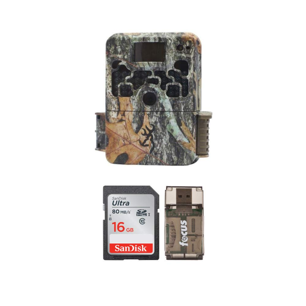 Browning Trail Cameras Strike Force Extreme 16 MP Game Camera + 16GB SD Card + Focus USB Reader Bundle