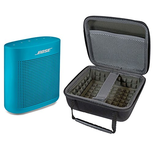 Bose SoundLink Color II Bluetooth Speaker, Aquatic Blue, with Portable Hardshell Travel Case