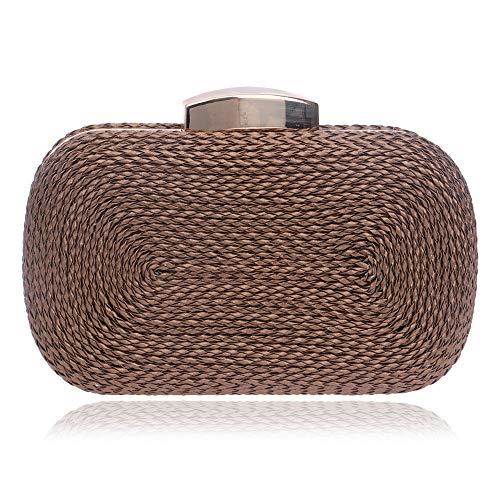 pacchetto Yzibei partito borsa tessuta cellulare di dell'unità di Sacchetto Unisex minimalista elaborazione rettangolare telefono di sera rwH7q0xwCT