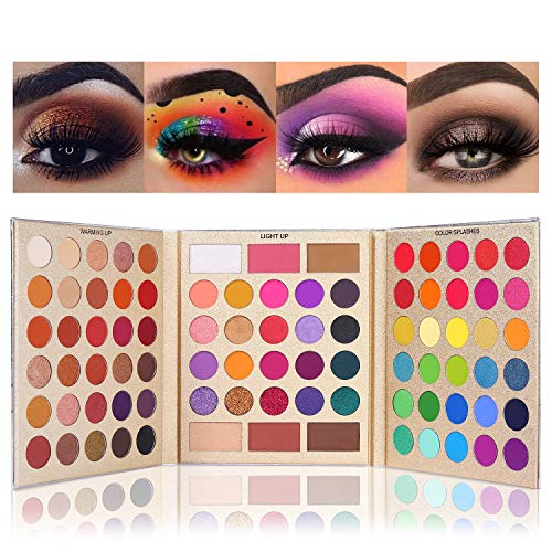 UCANBE Pretty All Set Eyeshadow Palette Holiday Gift Set Pro 86 Colors Makeup Kit Matte Shimmer Eye Shadow Highlighters…