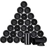 Jovitec 30 Packs Black Plastic Film Canisters with Caps, Storing of Small Personal and Household Items, Herbs, Art Beads, Films Developing Processing Tube, Coins