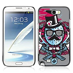 Designer Depo Hard Protection Case for Samsung Galaxy Note 2 N7100 / Cool Hipster Art