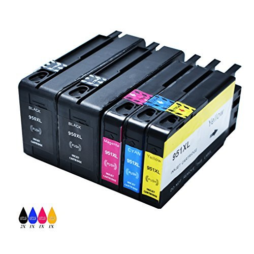 JUSTCOLOR Repuestos para cartuchos de tinta HP 950 X L 950XL 951 X L 951XL High Yield compatible con HP OfficeJet Pro 8100...