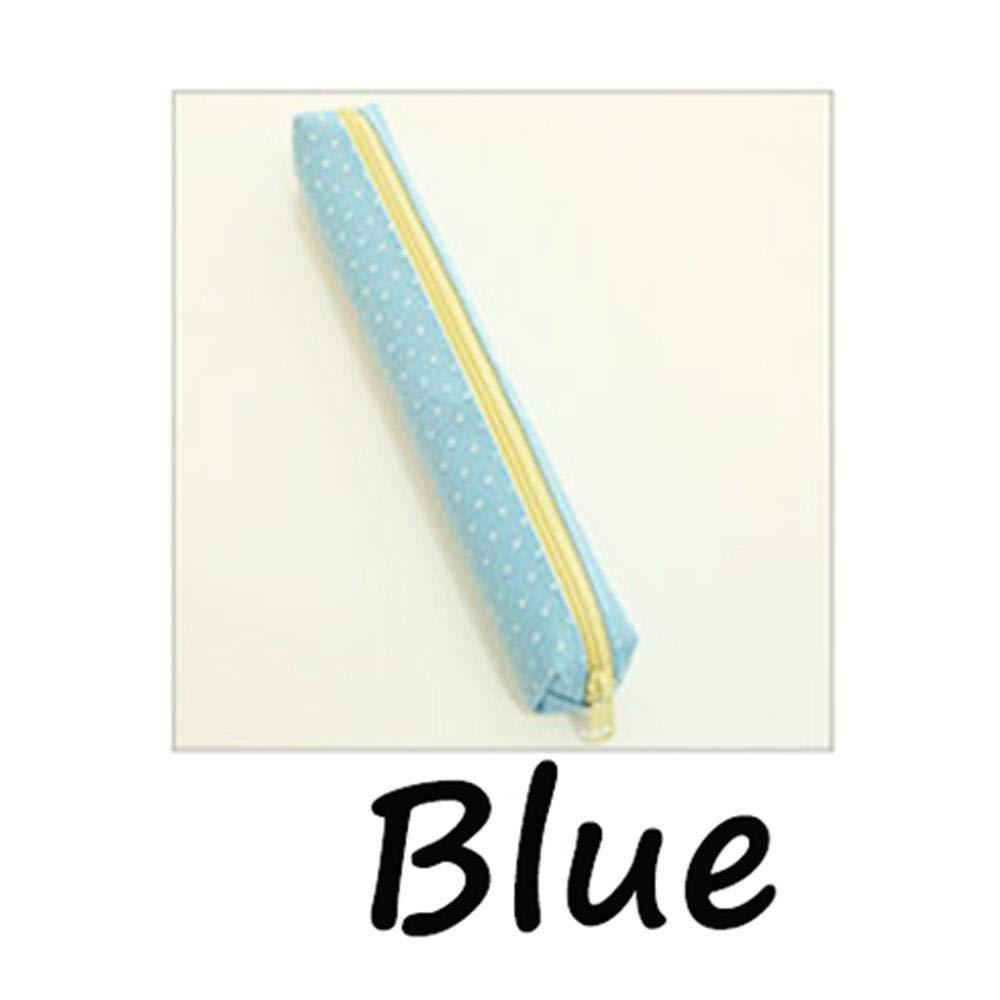 forone 2 PCs Fashion School Supplies Stationary Pencil Case Candy Color Canvas Pen Bag Makeup Pouch
