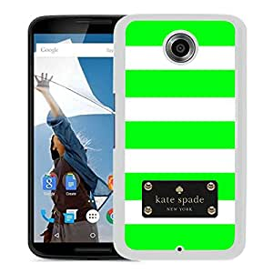 Fashionable And Unique Kate Spade Cover Case For Google Nexus 6 White Phone Case 123