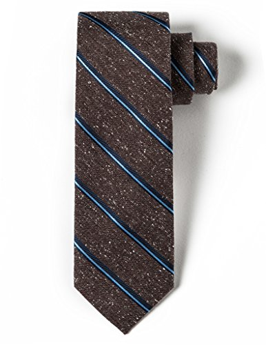 Striped Silk Skinny Tie (Origin Ties 100% Silk 2.5