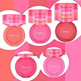 Ucanbe Waterproof 5 Colors Blusher Palette With