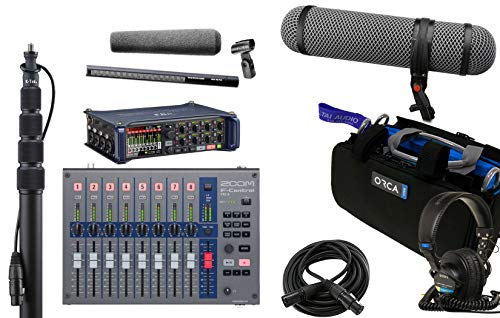 Zoom F8n Recorder & Sennheiser MKH416 Shotgun Mic Bundle with Zoom F-Control Mixing Surface, K-Tek Boompole, Orca Mixer Bag, Rycote SuperBlimp NTG, Sony MDR7506 Headphones & XLR Cable ()