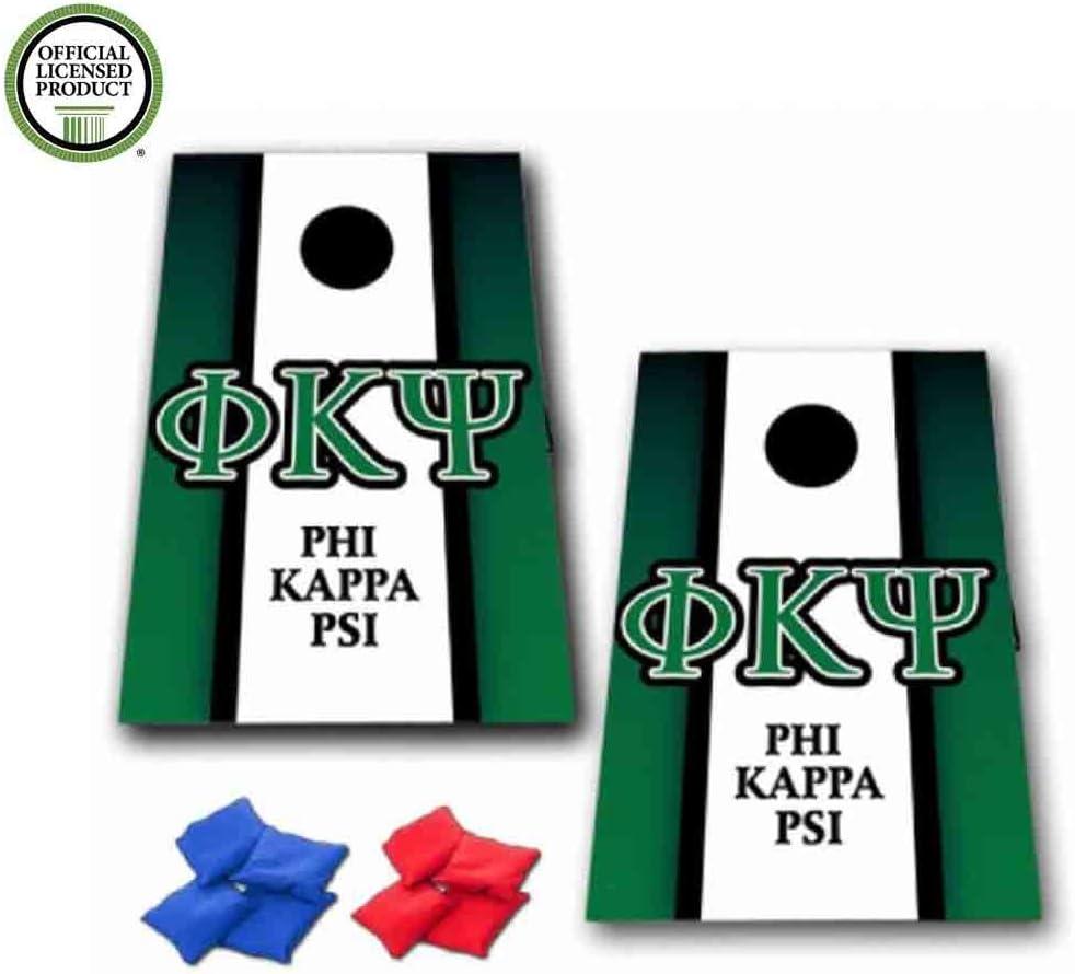 Phi Kappa Psi Cornhole Bag Toss Game – 垂直ストライプ – 8バッグ含ま